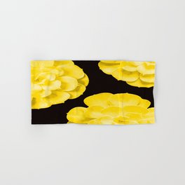 Large Yellow Succulent On Black Background #decor #society6 #buyart Hand & Bath Towel