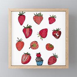Strawberry Dream Framed Mini Art Print