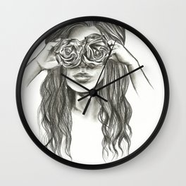 Beauty is within the eye of the beholder - By Ashley Rose Standish Wall Clock