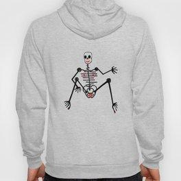 Black Skeleton  Female Hoody