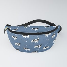 French Bulldogs on Brittany Blue Background Fanny Pack
