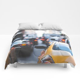 TAXI - CAB - CITY - CARS - PHOTOGRAPHY Comforters