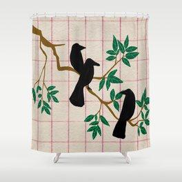 A murder Shower Curtain
