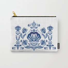 Nordic Blue Rose Carry-All Pouch
