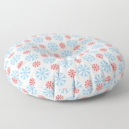 Eiffel tower 9 - blue and red Floor Pillow