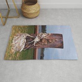 Driftwood Flower Lady Rug