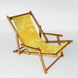 Honey Yellow Roses Abstract Sling Chair