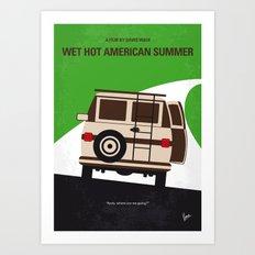No481 My Wet Hot American Summer minimal movie poster Art Print