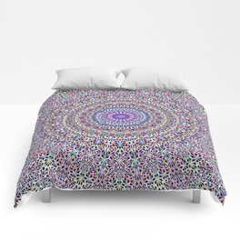 Pastel Jungle Garden Mandala Comforters
