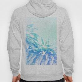 Dreamy and Fresh Palm Blues - Blue and Aqua Hoody