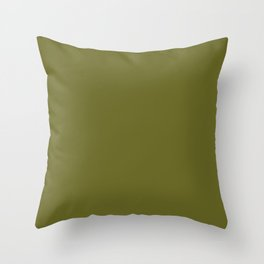 Colors of Autumn Pine Dark Green Solid Color Throw Pillow