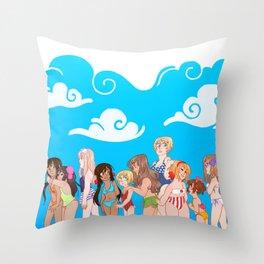 Hetalia Girls Throw Pillow