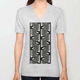 Geometric black and white pattern nordic Unisex V-Neck