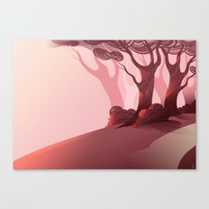Red (BG Only) Canvas Print