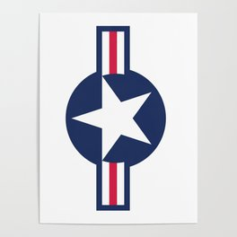 US Air force insignia HD image Poster