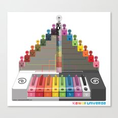 Kawaii Speak Visual : Design Digital  Canvas Print