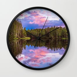 Sunset after summer rain Wall Clock