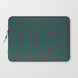 green darkness red spots Laptop Sleeve