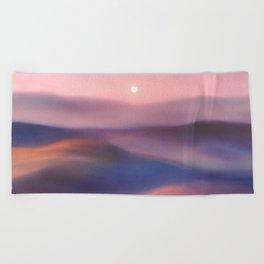 Minimal abstract landscape II Beach Towel