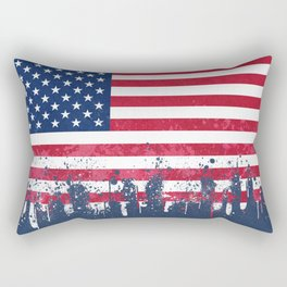 Merican Flag OG Rectangular Pillow