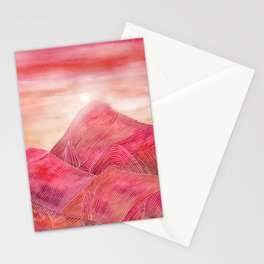 Lines in the mountains XXIII Stationery Cards