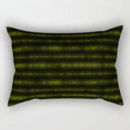 Lime Dna Data Code Rectangular Pillow