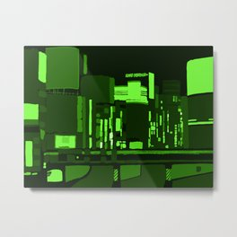 Green Lights Metal Print