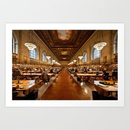 New York Public Library Art Print