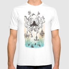 Octoluminary White Mens Fitted Tee MEDIUM
