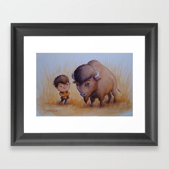 """Bold Buffalo Brothers"" Framed Art Print"