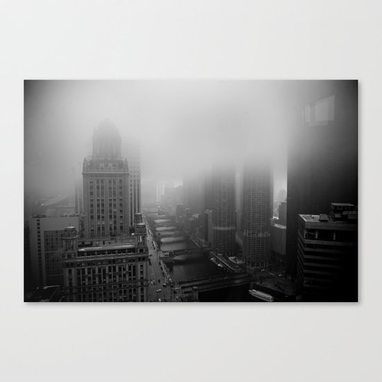Fog Over Chicago Canvas Print