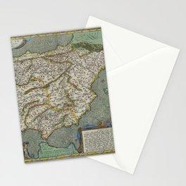 Vintage Map - Ortelius: Theatrum Orbis Terrarum (1606) - Spain Stationery Cards