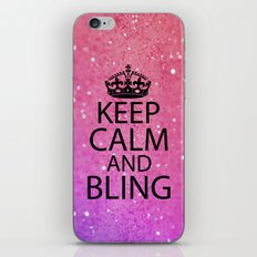 Keep Calm & Bling iPhone & iPod Skin