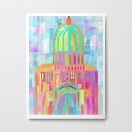 Italian church - artprint Metal Print