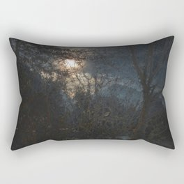 New Year's Moonlit River Rectangular Pillow