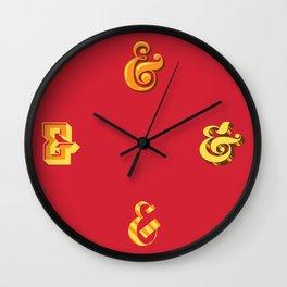 Ampersands Wall Clock