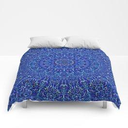 Blue Jungle Mandala Comforters