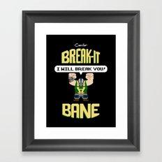 Break-It Bane Framed Art Print