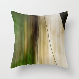Forest, Water, Lines Throw Pillow