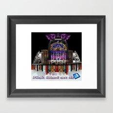 KICKSTARTER  Framed Art Print