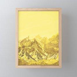 Mountains Yellow Framed Mini Art Print