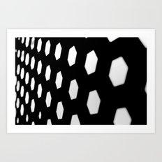hexagon. Art Print