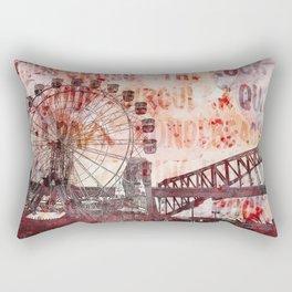 Sydney Luna Park Mixed Media Art Rectangular Pillow