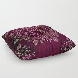 Wine Mandala Floor Pillow