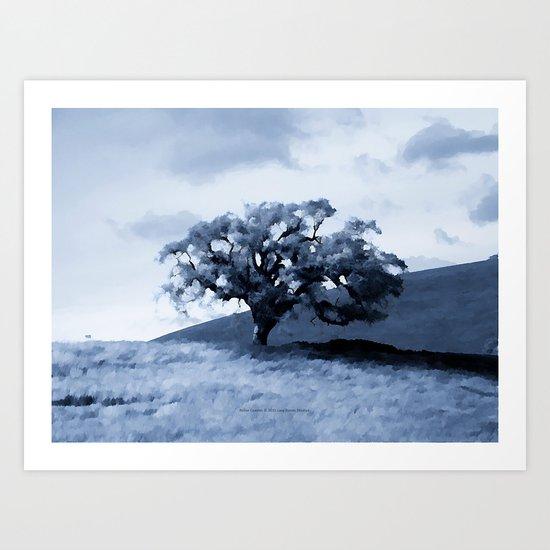 Vallecitos Road Oak Tree 005 Art Print