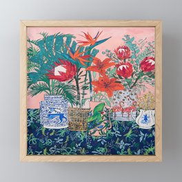 The Domesticated Jungle - Floral Still Life Framed Mini Art Print