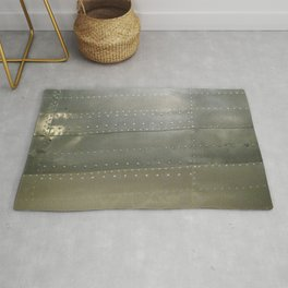 Silver Metal and Rivets Rug