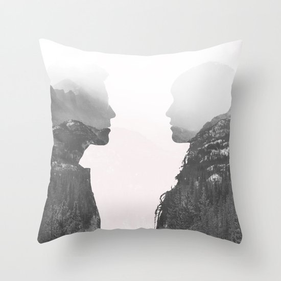 One in the Same Throw Pillow
