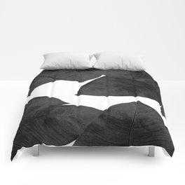 Banana Leaf Black & White II Comforters