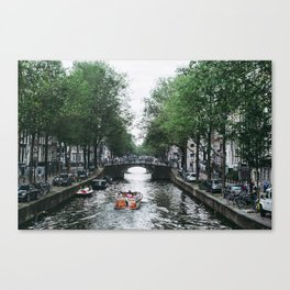 Canal Cruise Canvas Print